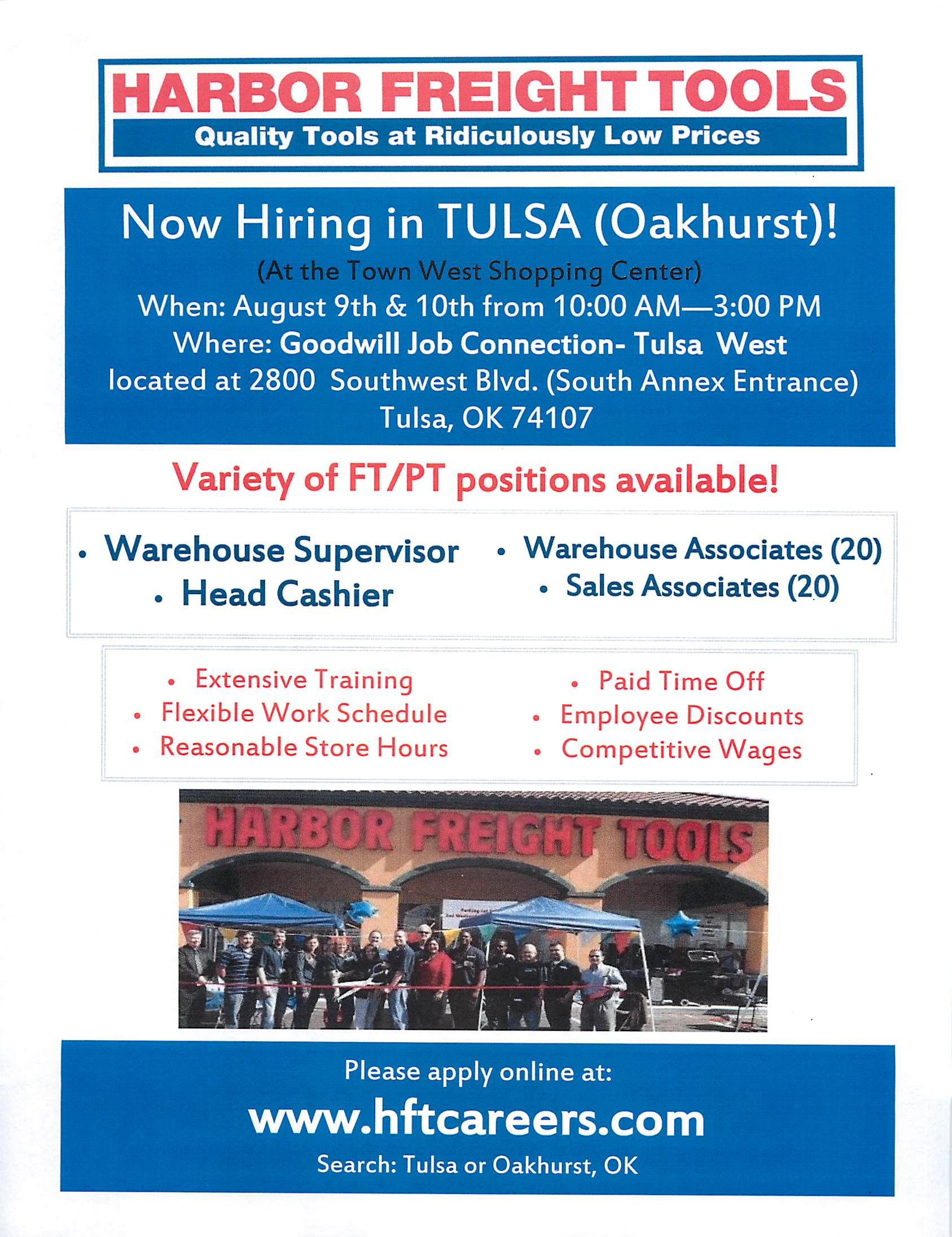 Hiring Event For Harbor Freight Tools 8 9 8 10 News You Can Use