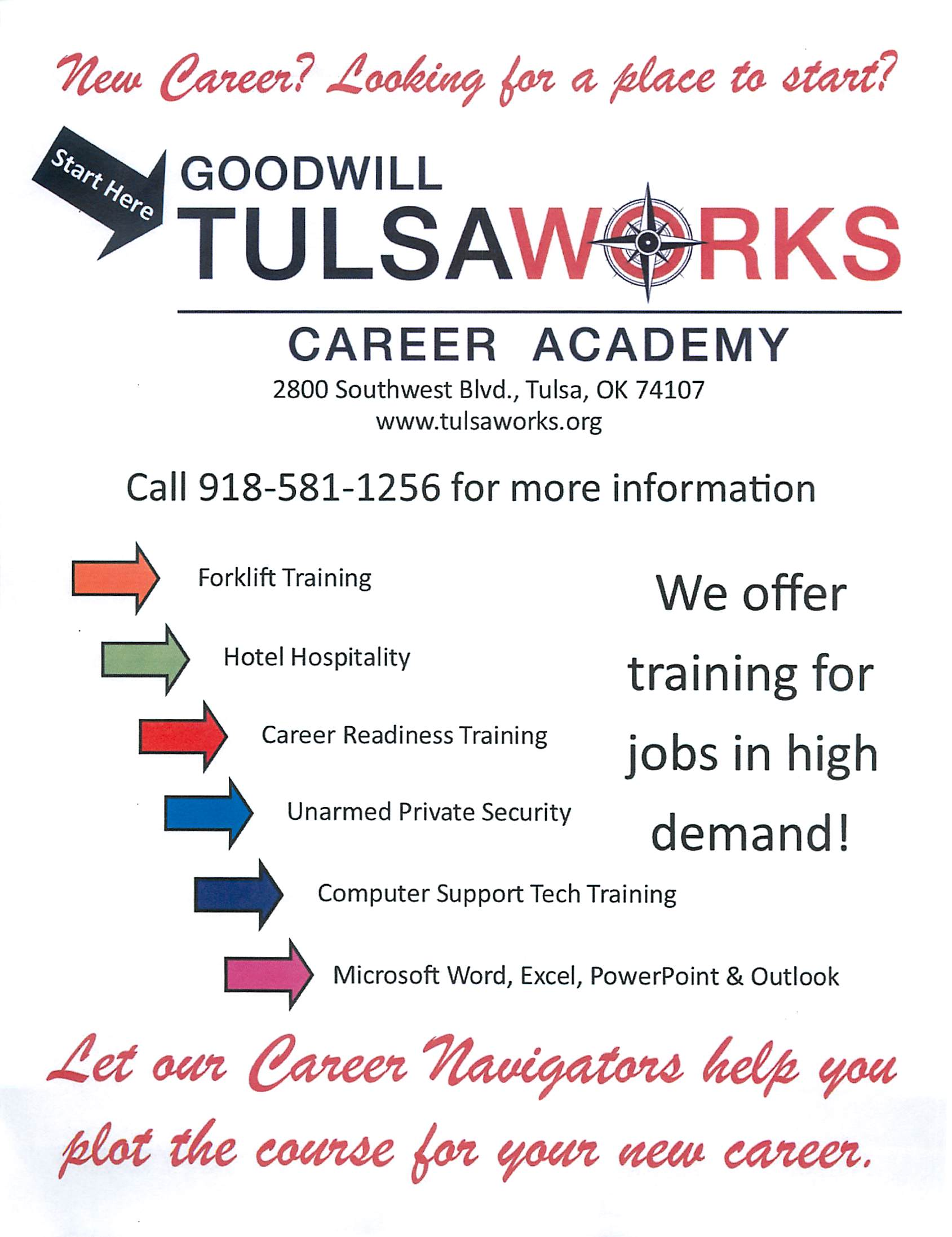 Goodwill Tulsaworks Career Academy Orientation 111 News You Can