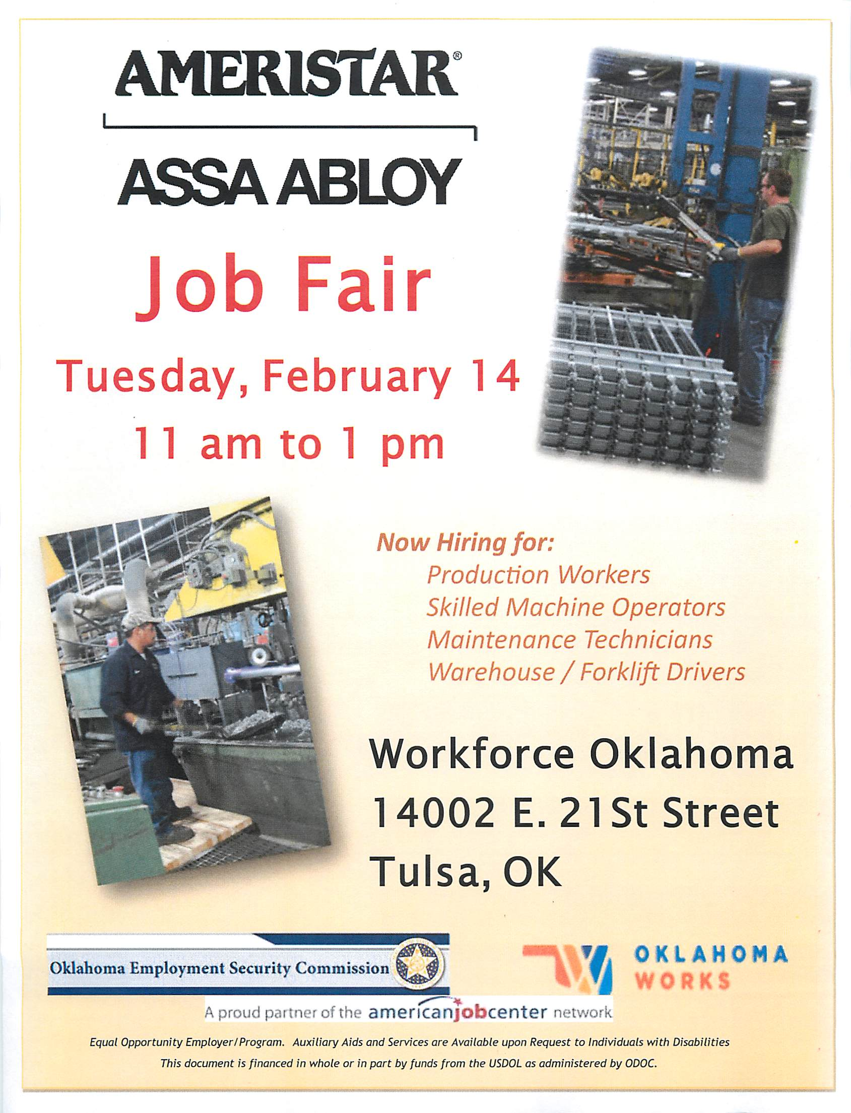 Oklahoma employment security commission tulsa