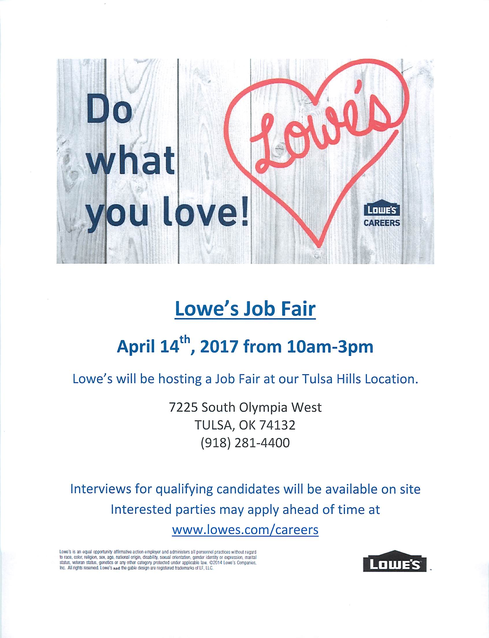 Delightful Loweu0027s Hiring On The Spot! 4/14